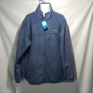 NEW Columbia Mount Grant Fleece Jacket Blue Men 2X